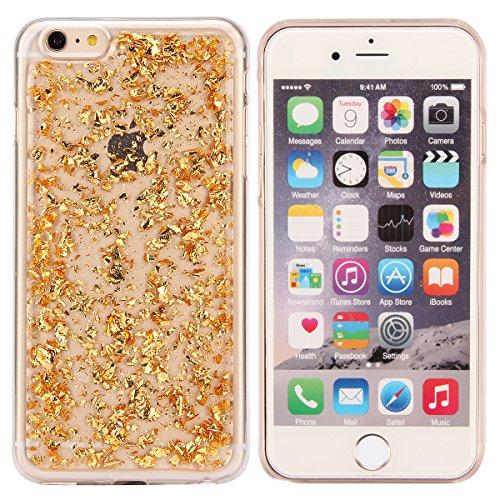 iPhone 6sPlus Custodia Sveglio, Soft TPU Gel Cover per iPhone 6Plus, MAOOY Shell Placcatura Edge in Lucido di Cristallo di Scintillio Strass Shock Absorption Protettiva Trasparente Ultra Sottile Chic  Oro