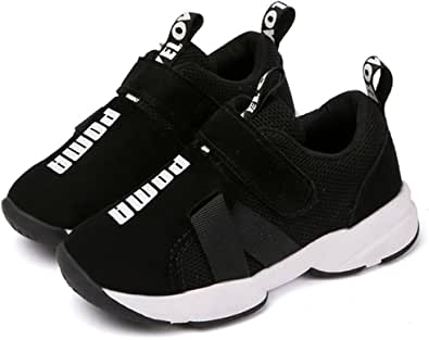 Daclay Scarpe per Bambini Ragazze per Ragazzi Scarpe Sportive Traspiranti Traspiranti con Tomaia in Pelle Confortevole con Velcro Leggero Sportivo