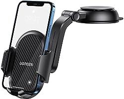UGREEN Auto Telefoonhouder Draagbare deur Auto Dashboard 360 Graden Rotatie Compatibel met iPhone 12 Pro Max 11 X 8 7 Galaxy