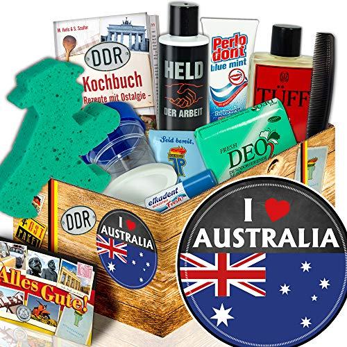 Australien Geschenk | Pflege Set DDR für Männer | I love Australia