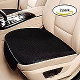 Haosens 2 Pezzi Auto Coprisedili Protezioni per sedili Cuscino del Sedile Auto - Confortevole Antiscivolo,Quattro Stagioni Universale (Nero)