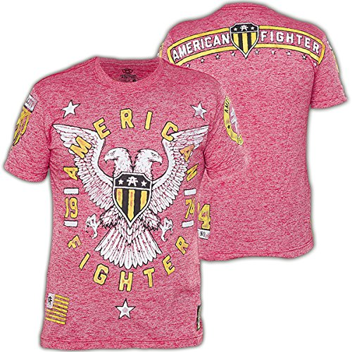 American Fighter by Affliction T-Shirt Jamestown Artisan Rot, XXXL (Rot T-shirt Fighter American)
