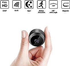 Wifi Mini kamera Ultrakompakte Netzwerk Kamera Eternal eye Wireless ip Kamera HD 1080P mit Bewegungserkennung Nachtsicht kameras, Nanny Baby Pet Cam für iPhone / Android Telefon / iPad / PC (Unterstützung 128G SD-Karte, nicht enthalten)