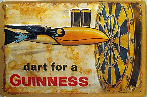 guinness-dart-for-a-guinness-plaque-en-tole-30-x-20-cm