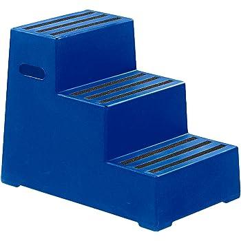Kunststoff-Tritt mit rutschfesten Stufen - abwaschbar