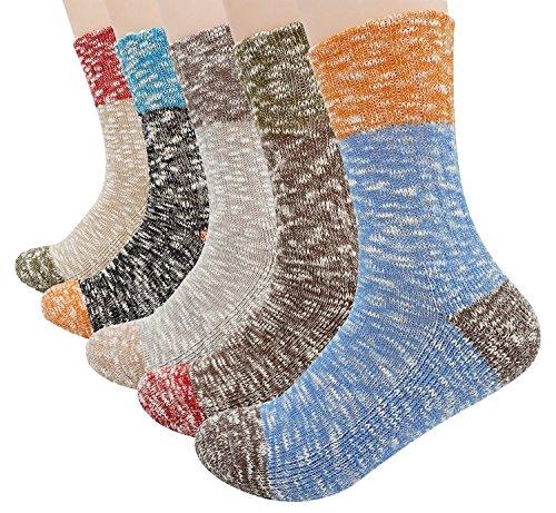Bienvenu Damen 5er Pack Multicolor Baumwollsocken (Santa Claus Anzüge Für Verkauf)