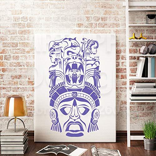 Zhuhuimin arte di alta qualità nuovo design in vinile antico civiltà wall sticker staccabile home decor maya totem decalcomania nella stanza 1 58x30 cm