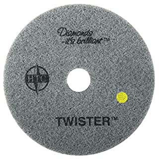 Americo Manufacturing 435418 Twister Yellow 1500 Grit Floor Pad for Step 2 Initial Polishing (2 Pack), 18