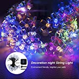 GreenClick 23ft 50 Led Colorful Solar Outdoor Cherry Blossom String Lights for Garden and Indoor