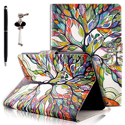 Etui Kindle Paperwhite, SpiritSun Housse de Protection en Cuir Smart Case pour Amazon Kindle Paperwhite Coque Pochette avec Fonction Stand / Auto Réveil / Veille + Stylet et Bouchon Anti-Poussière - Arbre