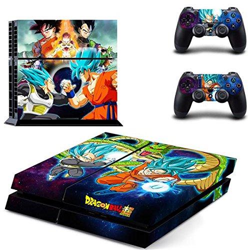 Playstation 4 + 2 Controller Aufkleber Schutzfolie Set - Dragonball (8) /PS4