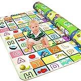 Golden Rule Alfombra para niños para jugar con bebés y bebés Juego de lados a prueba de agua y diseño de alfabeto 200X180CM