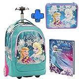 Trolley Big Zaino SEVEN - 37x48x23 cm 33lt - Frozen Love Glows + Astuccio Maxi scuola Seven 2 Zip Frozen Love Glows + DIARIO Giochi Preziosi