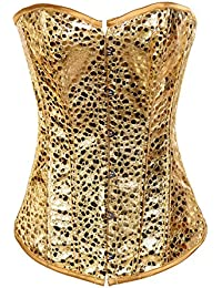 Dissa® Noble or jaune bustier corset,Or