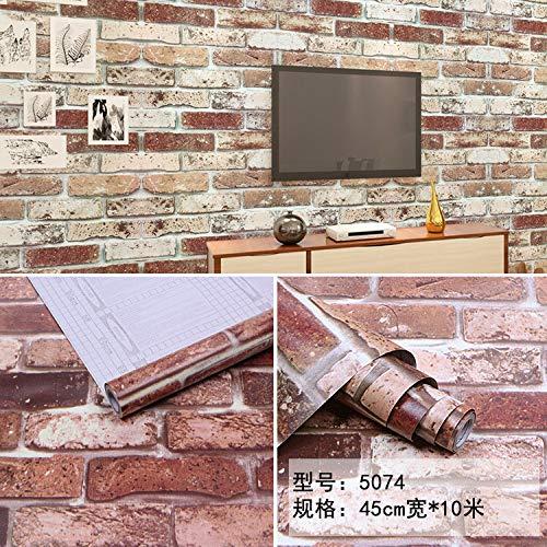 lsaiyy Selbstklebende Tapete PVC Wohnzimmer Schlafzimmer Cartoon Selbstklebende Wandaufkleber Pastorale Selbstklebende Instant klebrige Tapete-45CMX10M -