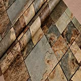 Unbekannt 3D Marmor Tapete PVC Beflockung Wandaufkleber Kunst Aufkleber Dekoration DIY Wohnzimmer Schlafzimmer Büro Wandbild 10 * 0,53 Mt,Bronze