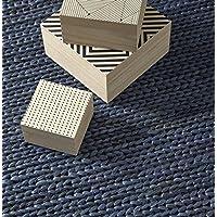 Creative carpets Alfombra, Yute, Azul, 120x180