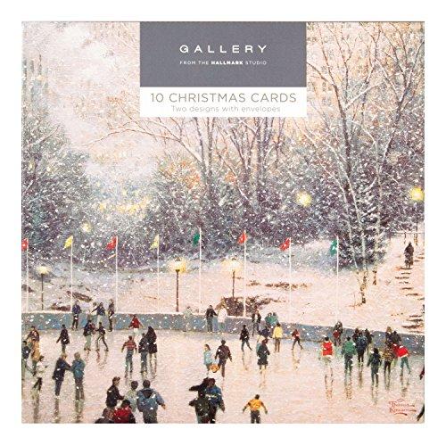 Hallmark Gallery Christmas Card Pack Snowy Scene - 10 Cards, 2 Designs