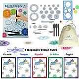 MC CHENMEI® Spirographe Deluxe Design Set Jouets éducatifs Jouets de Dessin Spirograph Set pour Adultes et Enfants