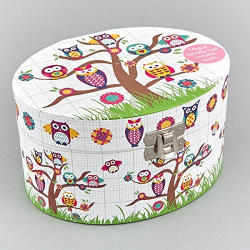 Joyero-Musical-Ovalado-Owls-Think-Pink