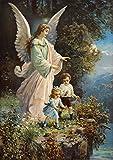 Postereck - 0152 - Schutzengel und Kinder, Altes Gemälde - Poster 21.0 cm x 29.7 cm DIN A4