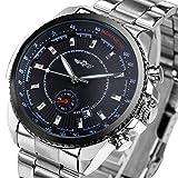 caluxe New Business relojes para hombres Movimiento Mecánico Automático Con Calendario Fecha Dial + caja de regalo
