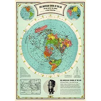 Flache Erde Karte Kaufen.Amazon De Flache Erde Karte Flat Earth Map Gleason S New