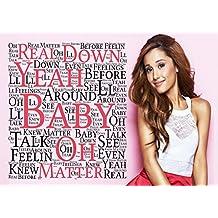 Ariana Grande–Baby I 7–Pop Star Superstar Singer Sexy Lady mejor foto de color de imagen única Impresión A4Póster