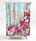 Duschvorhang Spring 180 x 180 cm, hochwertige Qualität, 100% Polyester, wasserdicht, Anti-Schimmel-Effekt, inkl. 12 Duschvorhangringe