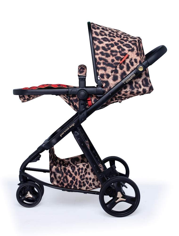 Cosatto Paloma Faith Giggle Pram and Pushchair Hear Us Roar - Leopard Print Cosatto Giggle 3 is your classic nippy 3-wheeler, lightweight but sturdy and super easy to use The from-birth carrycot, (suitable for occasional overnight sleeping), converts to pram mode Reversible pushchair unit when they're ready to sit up 4