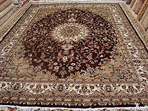 Medallion Floral Exclusive Designed Rectangle Area Rug Hand Knotted Wool