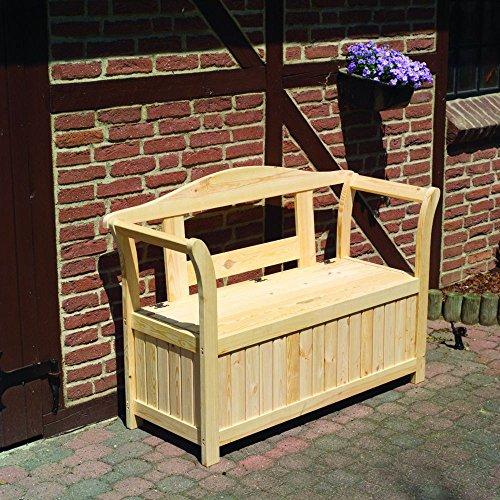 Friesenbank mit Kissenbox Sitztmöbel Stauraum Holz Gartenmöbel, Zubehör:Ohne Zubehör