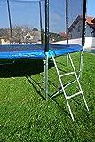 Outdoor Gartentrampolin Trampolin XL – 436cm komplett inkl. Sicherheitsnetz und Leiter TÜV geprüft von AS-S - 5