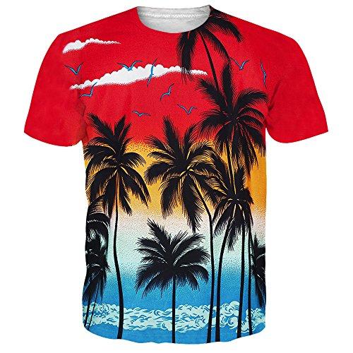 NEWISTAR Unisex 3D Druckten Sommer-Beiläufige Kurze Hülsen-T-Shirts T-Stücke (Gedruckt T-shirts Herren)