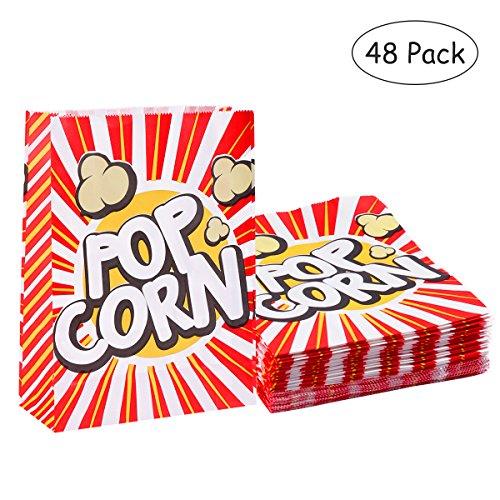 Toyvian 48 stücke Popcorn Boxen Wrapper Taschen Dekorative Geschirr für Geburtstagsfeiern Baby Duschen Graduierungen (Baby-dusche-taschen Und Boxen)