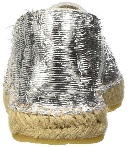 I love candies ILC Damen Espadrille, Espadrilles femme Argent - Silber (Silver LD 919)