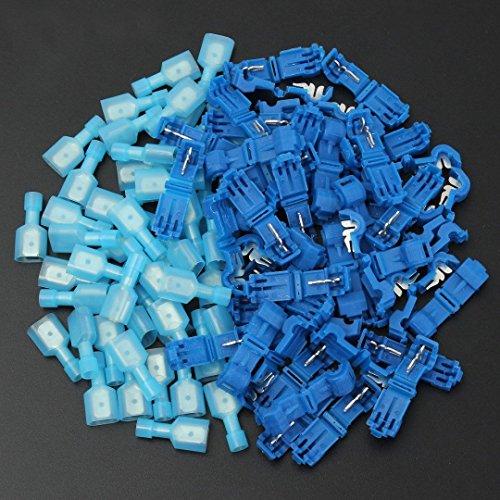 auaudate-quick-splice-wire-terminals-spade-connectors-electrical-crimp-cable-blue50-pairs-100pcs