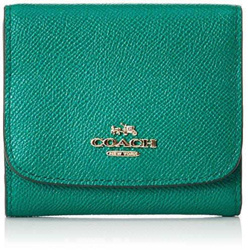CoachSmall Wallet - Portafogli Donna , Verde (Grün (Li/Forest)), 10x10x2 cm (B x H x T)