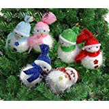 Decorative Buckets:christmas Decorations : CHRISTMAS SNOWMAN|CHRISTMAS TREE DECORATION HANGING SNOWMAN : PACK OF 3| Christmas Tree Decorations |christmas Tree Hanging| Christmas Décor | Christmas Tree