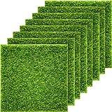 Pangda 8 Paquetes de césped Artificial para jardín, césped de Hierba Artificial como la Vida, 15,2 x 15,2 cm, Adorno en...