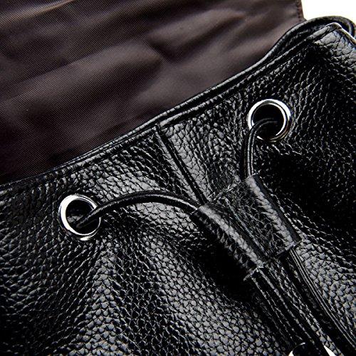 Borsa In Pelle Zaino Ladies Fashion RAN,Red black