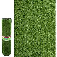 Césped Artificial económico para terraza Verde de plástico de 1x10 Metros. - LOLAhome