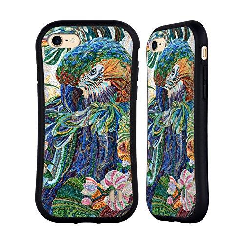Ufficiale Erika Pochybova Ghiandaia Blu Uccelli Case Ibrida per Apple iPhone 7 / iPhone 8 Pappagatllo