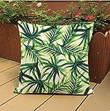Longless Piante tropicali foglia verde timbro di biancheria in cotone kit cuscini decorazione della casa il letto sedia cuscino divano