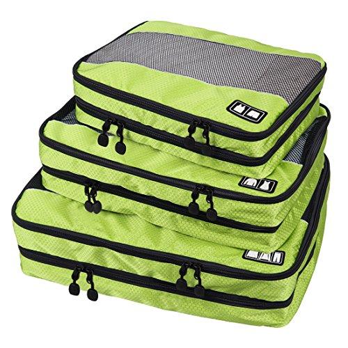 Ecosusi organizzatori di viaggi Cubes Packing - Durable 3 pezzi Weekender Set