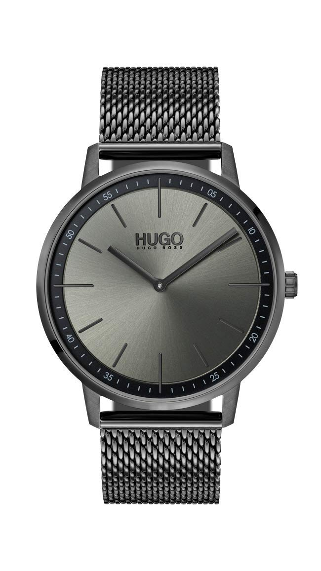 Hugo Unisex Adult Analogue Classic Quartz Watch with Stainless Steel Strap 1520012