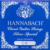 Hannabach Cuerdas para guitarra cl?sica, Serie 815 Para guitarras de 8/10 cuerdas, High Tension Plateado espec