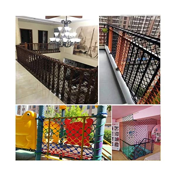 HUANPIN Child Safety Net Family Balcony Railing Stairs Anti-Falling Baby Fence Net Children Playground Guardrail Kids Safety Netting Dia 10mm8cm,4×5m HUANPIN ★Handmade: High quality safety net , Hand braided Traditional structure ★Mesh Size*Rope Diameter: 8cm*10mm Length*width: please perchase as your needs. We have any other size ( rope diameter, mesh, length * width) rope net, support customization. If you have any needs, please contact us. ★ Multi-function protection net: balcony family and railing stairs balcony security loft bed protection stair railing cat climbing ladder, anti-fall and other strengthening protection; wall, house, hotel theme party, board, cafe, bookstore, restaurant, decoration, hanging and so on. 8