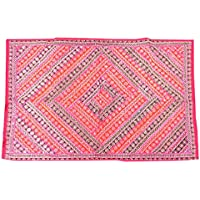 Mogul Interior Decorative Indian Wall Hanging Tapestry Embroidered Patchwork Hippie
