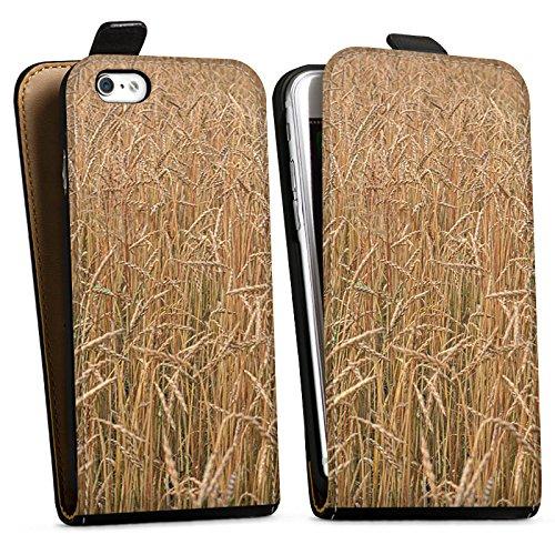 Apple iPhone X Silikon Hülle Case Schutzhülle Kornfeld Landschaft Feld Downflip Tasche schwarz